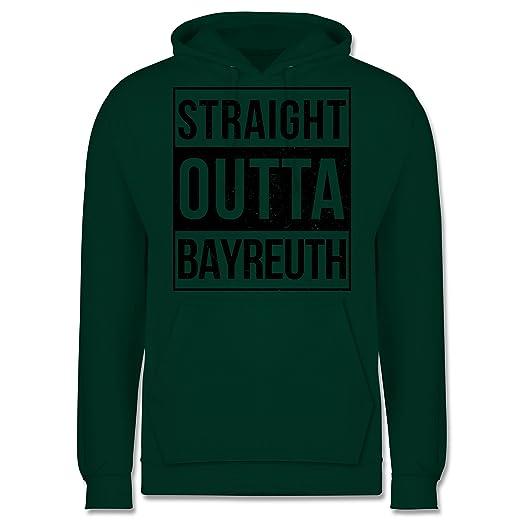 Franken Männer - Straight Outta Bayreuth schwarz - JH001 Herren Kapuzen  Pullover: Bazi Shirts: Amazon.de: Bekleidung