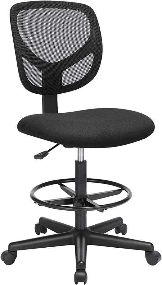 SONGMICS Silla de escritorio de pie con altura ajustable y ...