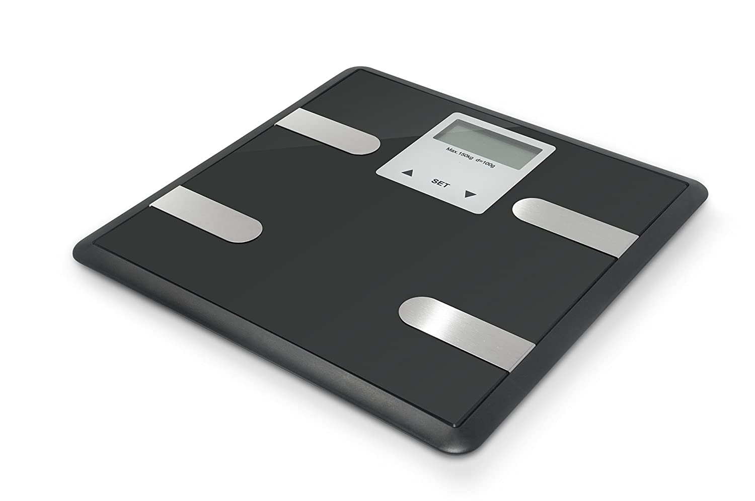Digital Body Fat Weight Scale by Balance, Accurate Health Metrics, Body Composition & Weight Measurements, Glass Top, with Large Backlit Display (Black) LED EAGLE
