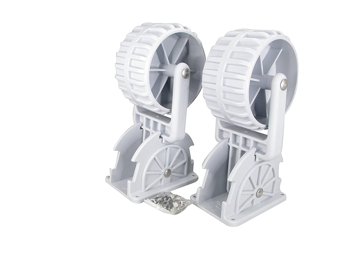 Pactrade Marine Flip-up Retrackable Dinghy wheels Pair Nylon Inflatable Boat Launching wheels/Boat Dolly