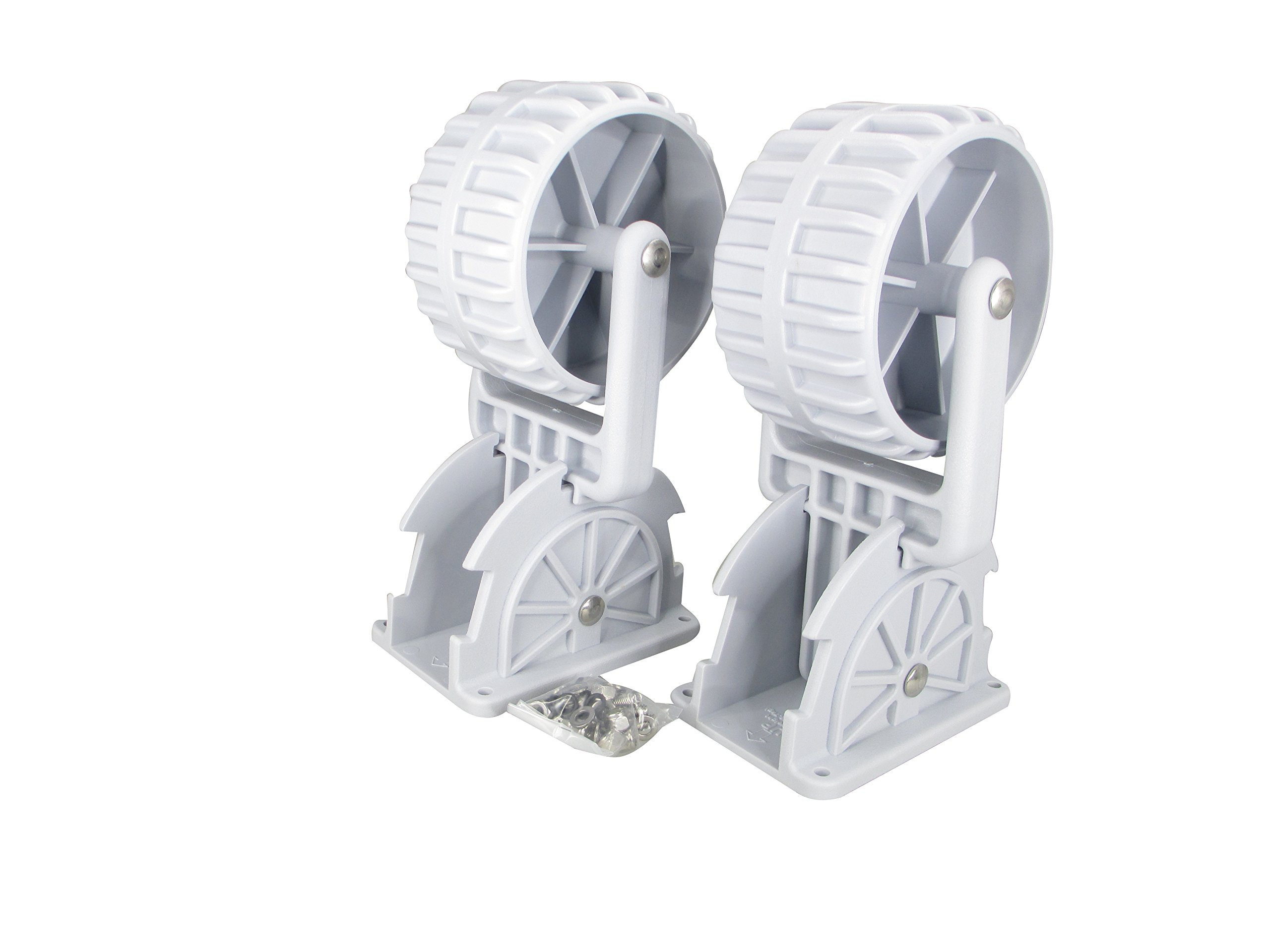 Pactrade Marine Flip-up Retrackable Dinghy Wheels Pair Nylon Inflatable Boat Launching Wheels/Boat Dolly by Pactrade Marine