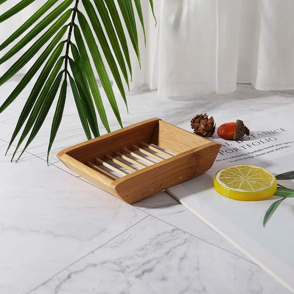 creativa y sencilla caja de jab/ón manual de bamb/ú caja de jab/ón para ba/ño 1 Youliy Jabonera de estilo japon/és jabonera port/átil