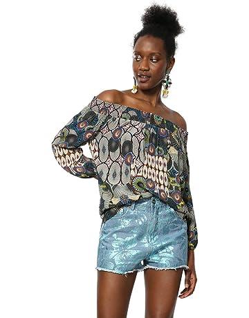 9eee60a5690 Desigual Blouse Short Sleeve Melina Woman Multicolour Femme