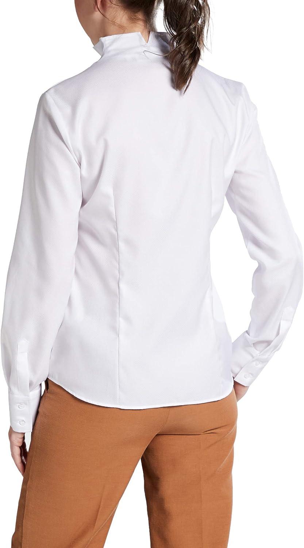 Eterna Long Sleeve Blouse Modern Classic Uni Bianco