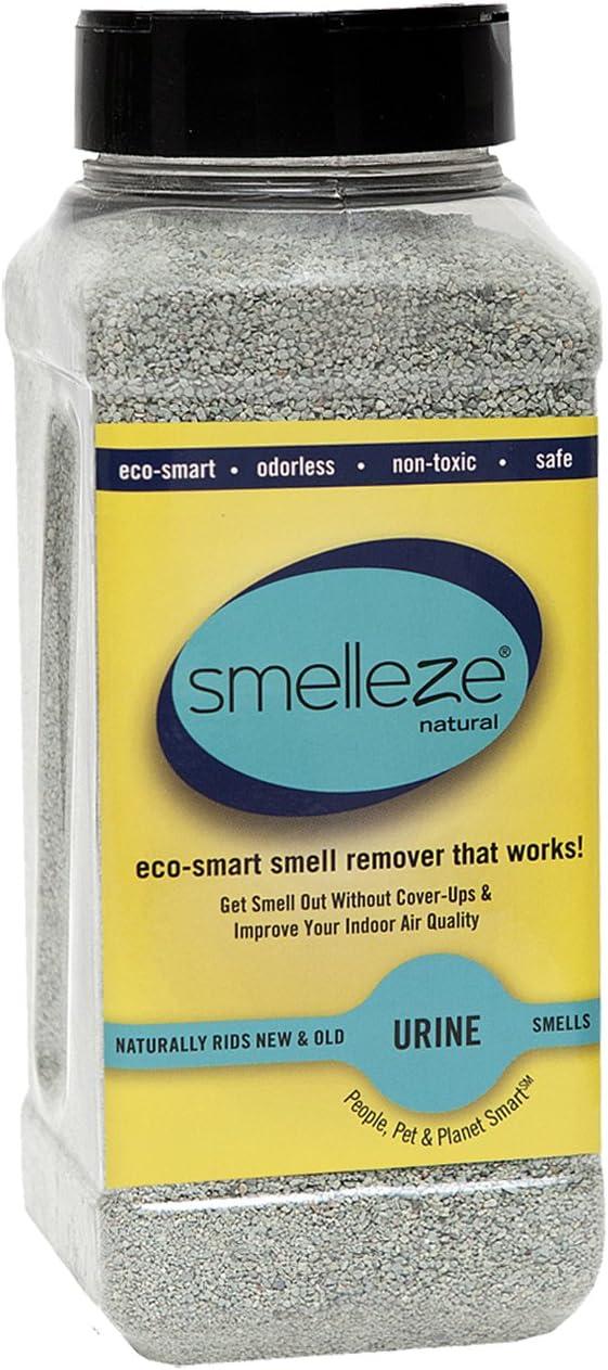 SMELLEZE Natural Urine Smell Removal Deodorizer: 2 lb. Granules Stops Urine Stench