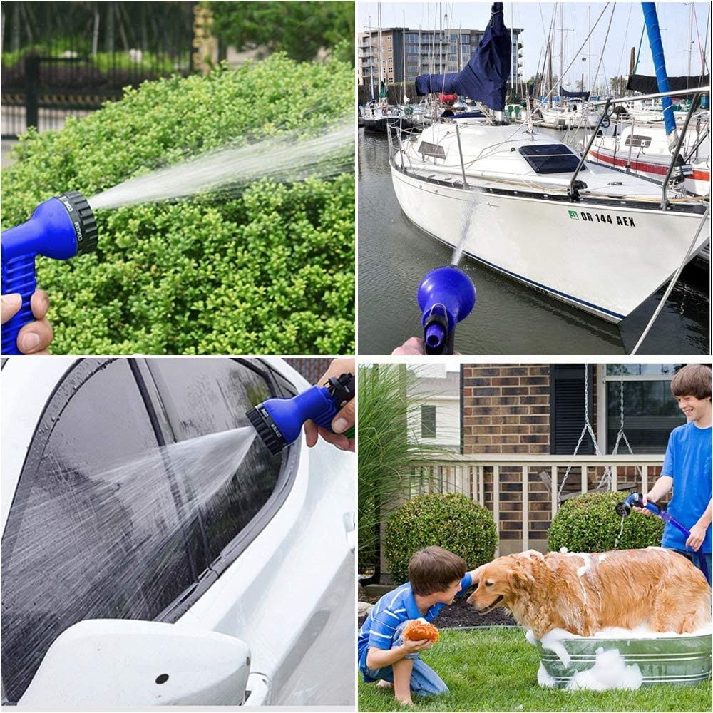 Tubo Flessibile per Acqua VEGKEY Tubo Flessibile da Giardino Tubo Flessibile per irrigazione con 8 funzioni 30 m 100 FT Flessibile ed Estensibile per irrigazione e Pulizia del Giardino