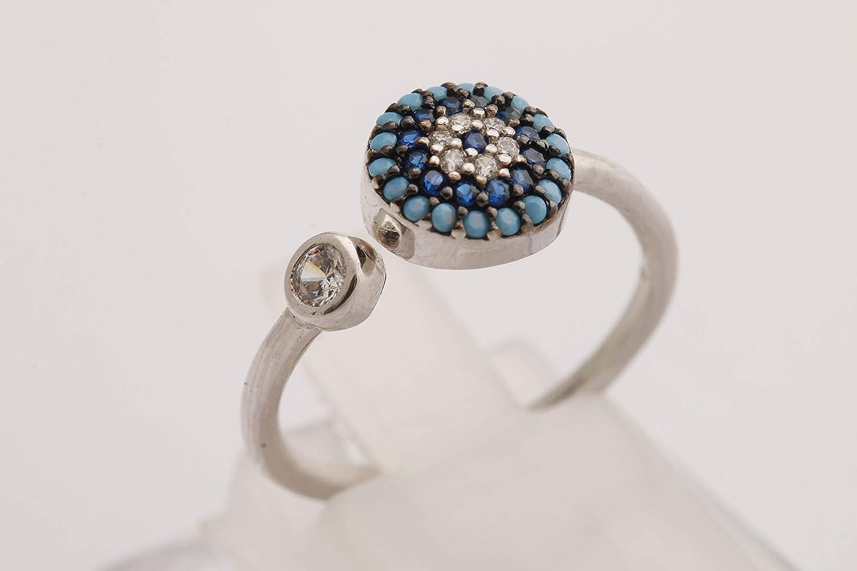 Nazar Good Luck! Turkish Handmade Jewelry Evil Eye Round