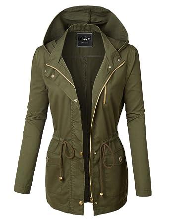 LE3NO Womens Military Anorak Safari Jacket at Amazon Women's Coats ...
