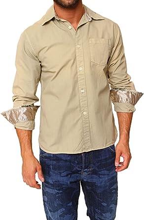 Z-Brand Camisa para Hombre, Color: Caqui: Amazon.es: Ropa y ...