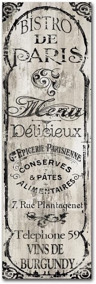 Paris Bistro II by Color Bakery, 8x24-Inch Canvas Wall Art