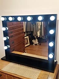 chende white hollywood lighted makeup vanity mirror light with dimmer christmas gift. Black Bedroom Furniture Sets. Home Design Ideas