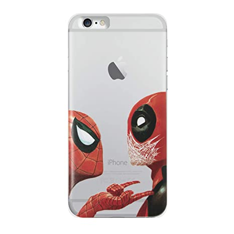 iPhone 6 Plus/6s Plus Funda de Silicona de Deadpool / Cubierta de Gel para