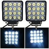 VINGO® 2x 48W LED Faros Automático luces de trabajo Impermeable luz brillante 24V 10-30 V DC Faros Adicionales Faro Invertido