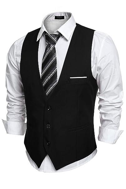 Amazon.com: COOFANDY - Chaqueta de cuello en V para hombre ...