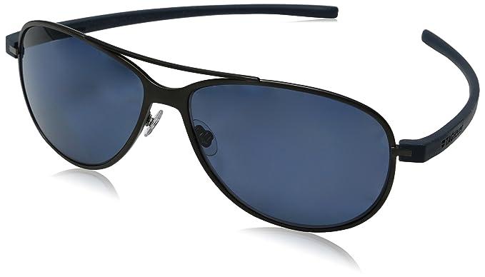 95ccb5071 TAG HEUER Unisex-Adult Reflex 3 3982 Polarized Oval Sunglasses, black, 64 mm