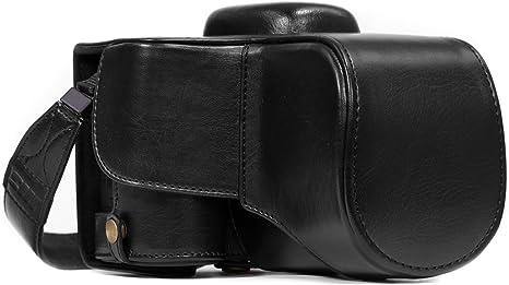 MegaGear Ever Ready MG856 Estuche de Cuero para cámara Nikon, Negro: Amazon.es: Electrónica