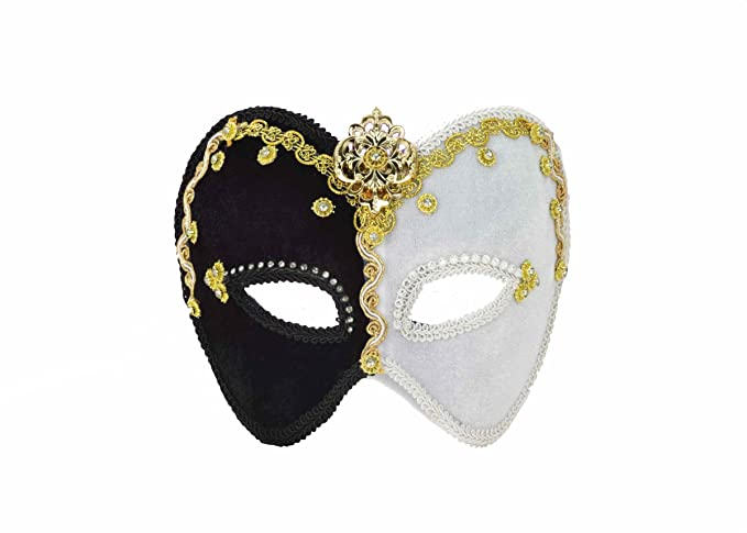 White Brand New Mardi Gras Masquerade Lady Pirate Mask