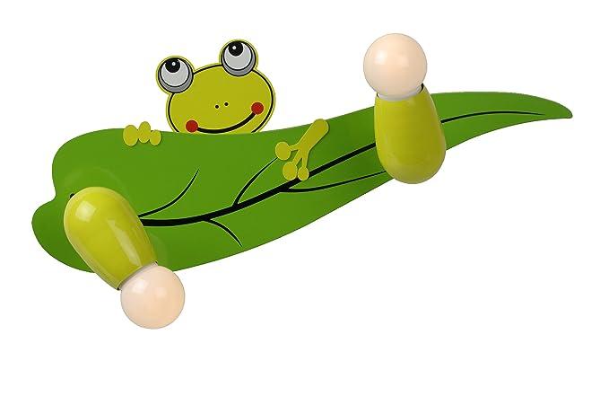 Lucide froggy applique a parete in legno e metallo