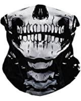 iHeartRaves Skeleton Seamless Bandana, X Ray Skull Face Mask for Dust, Music Festivals, Raves, Riding, Outdoors