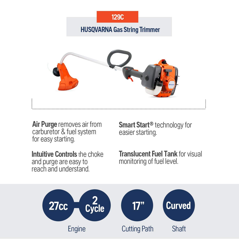 Amazon.com: Husqvarna 129 °C curvado desbrozadora de mano ...