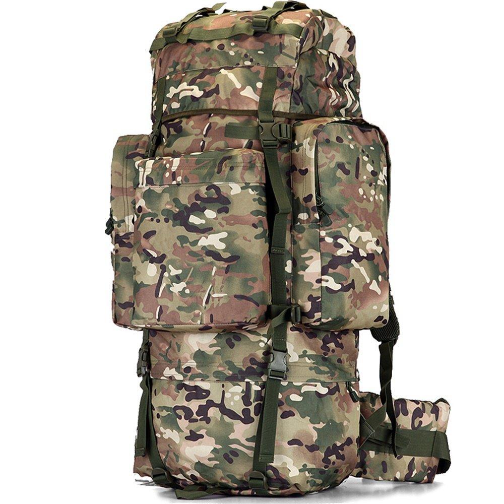 毎日の家 カモハイキングバックパック、防水戦術リュックサックアウトドアスポーツ旅行トレッキングランニングメンズ大容量 (サイズ さいず : 100L) 100L  B07QHSRPGX