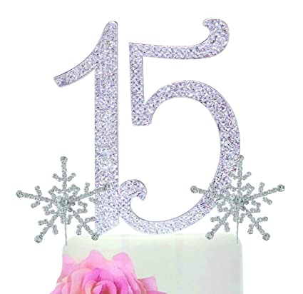 Amazon.com 15 Quinceañera Birthday Cake Topper. Premium