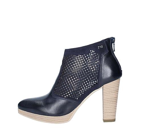 Nero Giardini scarpa tronchetto donna art. P805004D col. blu