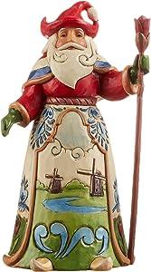 Enesco Jim Shore Heartwood Creek Dutch Santa Stone Resin Figurine, 7 inch, Multicolor