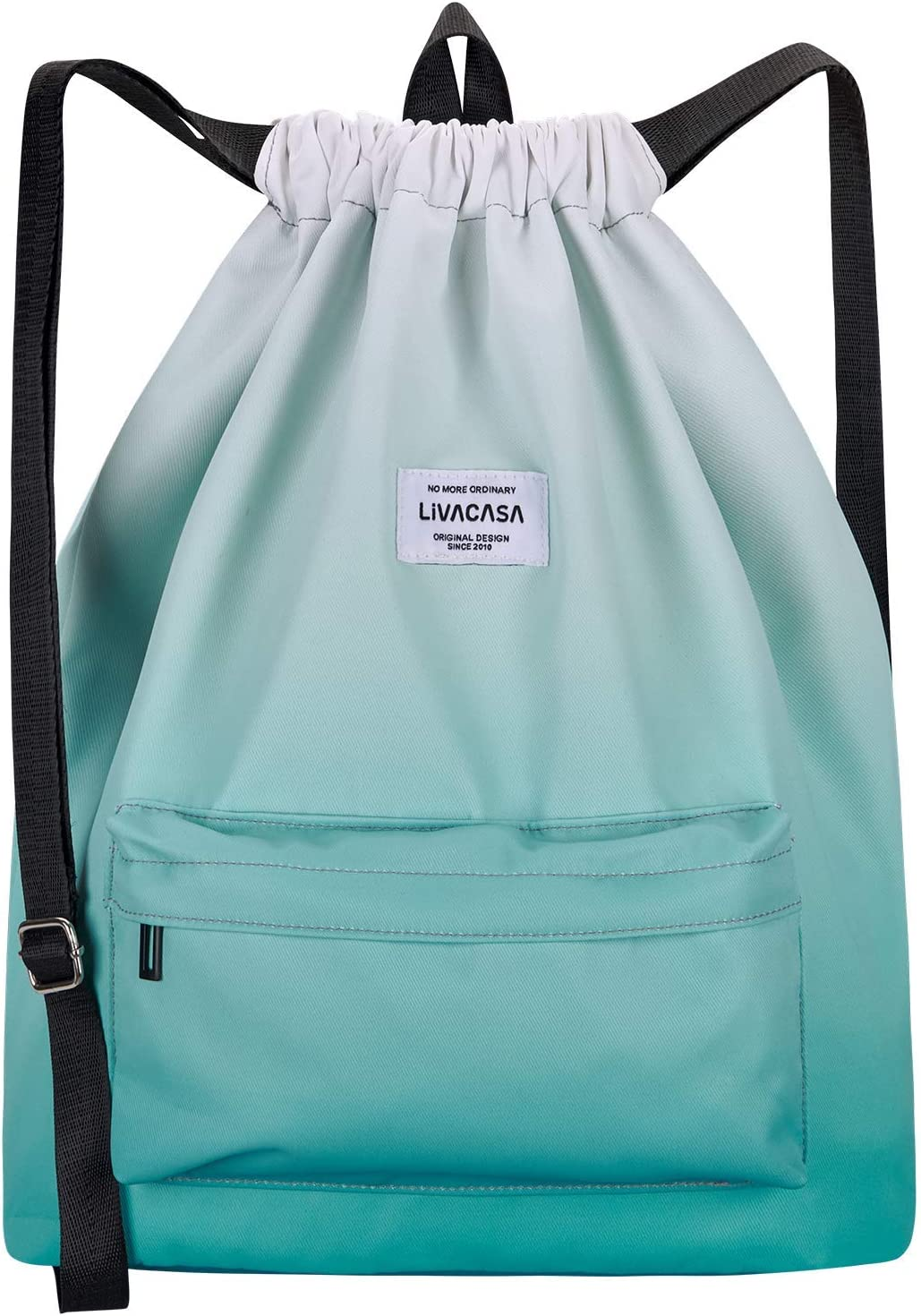 LIVACASA Drawstrings Backpacks Bags for Men Women Kids Gym Drawstrings Bag Large