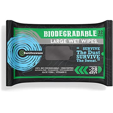 best Surviveware Biodegradable Wet Wipes for No Rinse Bathing and Showers. Great for Camping reviews