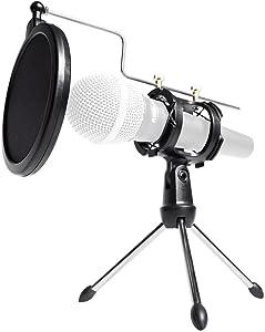 Rockville RTMS21 Desktop Tripod Microphone Stand with Pop Filter + Shock Mount