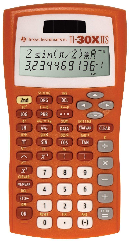 Texas Instruments TI-30X IIS 2-Line Scientific Calculator, Orange by Texas Instruments