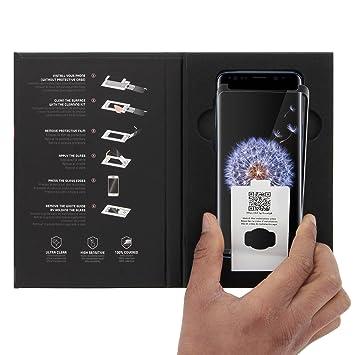 Muvit Tiger Glass Film de Protection décran pour Samsung Galaxy S9 (Verre trempé