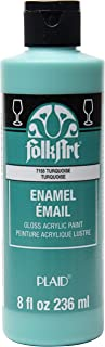 product image for FolkArt Gloss Acrylic Enamel Paint in Assorted Colors, 8 oz, Turquoise