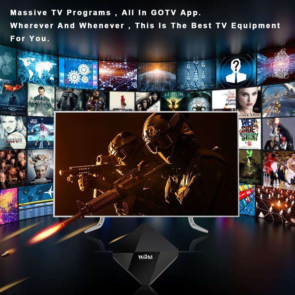 Goldenbox 2019 International IPTV Receptor Caja con suscripción de por Vida para más de 1500 Canales en Vivo Global, Incluyendo los programas de América del Norte asiático árabe Brasil: Amazon.es: Electrónica