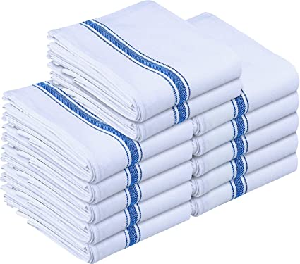 Utopia Towels Kitchen Towels (12 Pack)   Dish Towels, Machine Washable  Cotton White