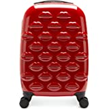 Lulu Guinness Hardside Spinner Suitcase, 56 cm, Red