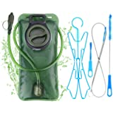 WADEO Hydration Bladder Leak Proof Water Reservoir 2L with Hydration Pack Cleaning Kit Tube Insulator Bite Valve Cover…