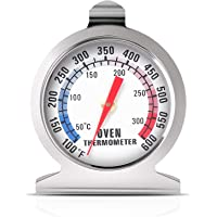 Oven Thermometer 50-300°C/100-600°F, Oven Grill Fry Chef Smoker Thermometer Instant Read Stainless Steel Thermometer…