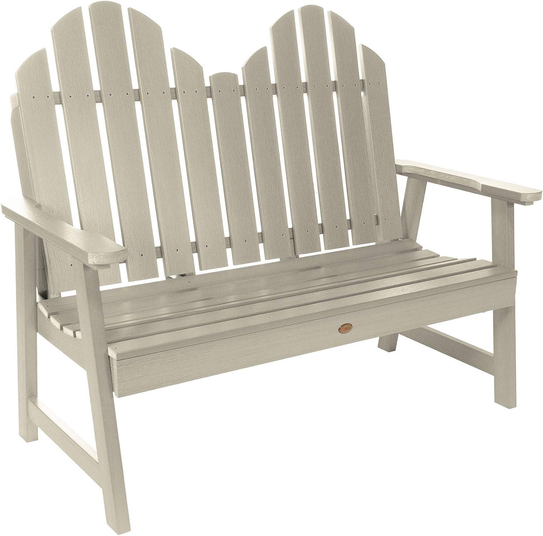 highwood AD-BEN-CW1-WAE Classic Westport Garden Bench, 4ft, Whitewash