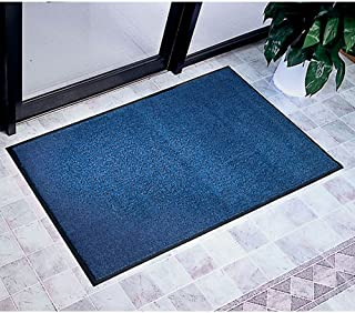 "product image for Apache Mills Plush Tuff Olefin Mat - 4"" x 8"" Dimensions: 48"" W x 96"" D Weight: 22 lbs Blue"