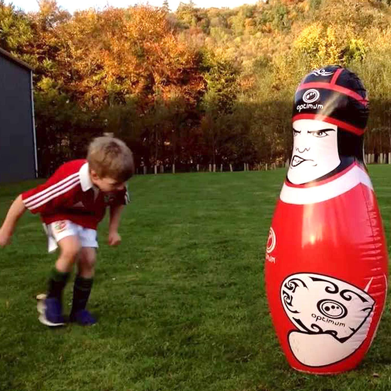 OPTIMUM Big Hit Rugby Tackle Buddy, Infantil, Rojo-Rosso, Talla ...
