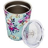 Amazon Com Crown Pink Chevron 13 Oz Insulated Wine Glass