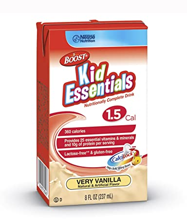 Nestle Boost Kid Essentials 1.5 Vanilla 237Ml - Case of 27 - Model 33540000