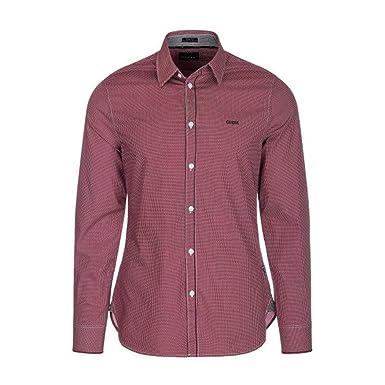 26d9f5143a Guess Jeans Chemise Jeans m84h41 Rouge: Amazon.fr: Vêtements et ...