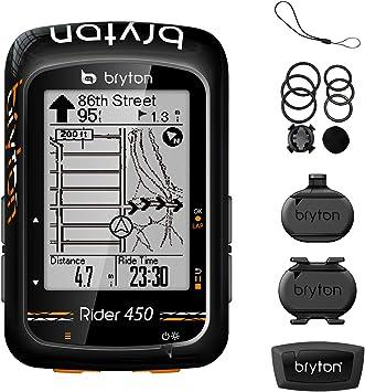 Bryton - Ordenador GPS para bicicleta Rider 450: Amazon.es ...
