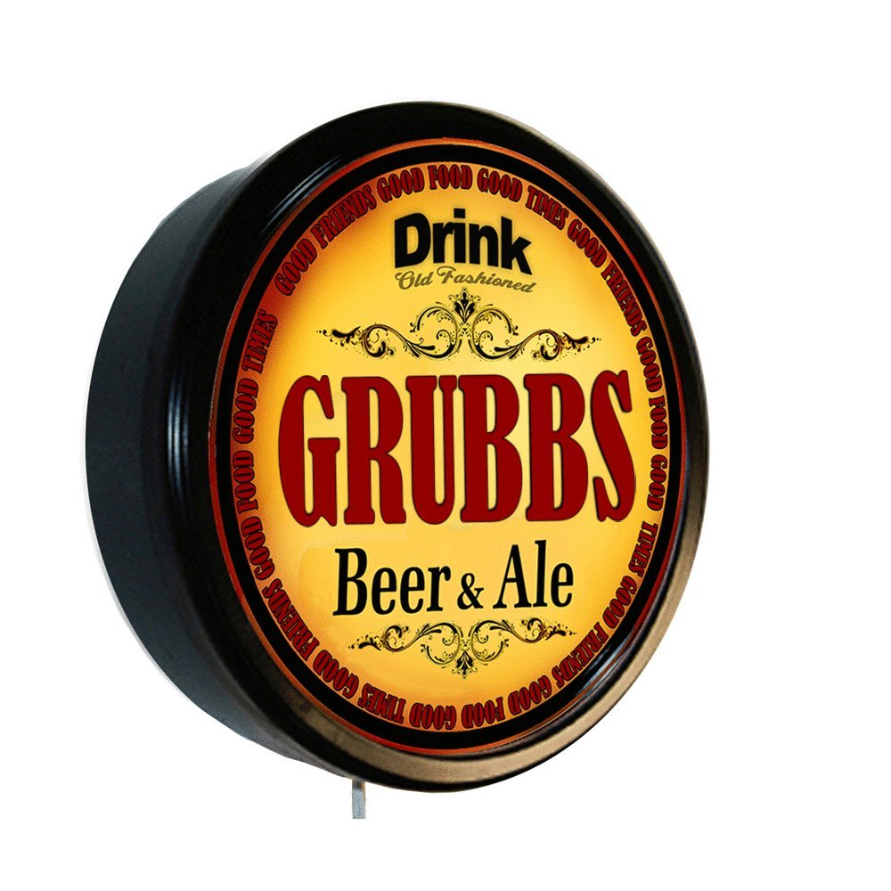 GRUBBS Beer and Ale Cerveza Lighted Wall Sign