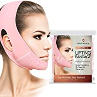 ParaFaciem Reusable V Line Mask Facial Slimming Strap Double Chin Reducer Chin Up Mask Face Lifting Belt V Shaped…