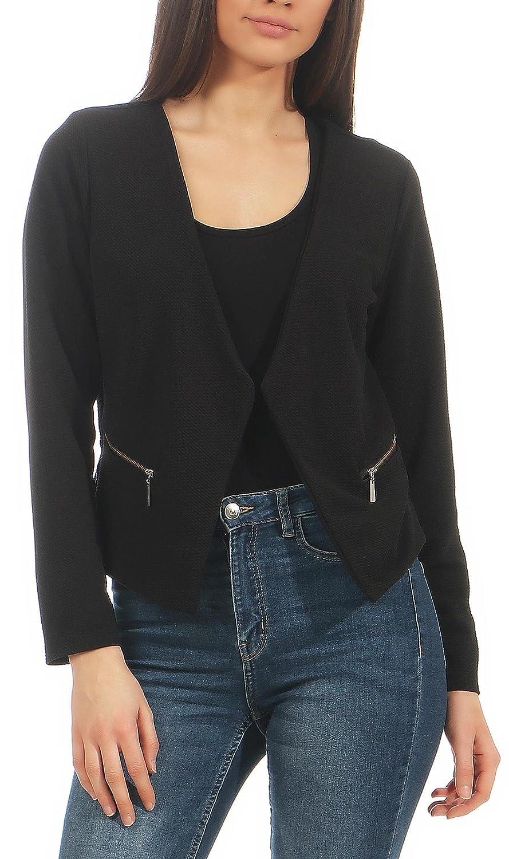 Malito Blazer sous Basic-Look avec Fermeture-/éclair Costume 6040 Femme
