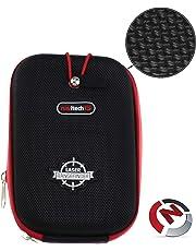 Navitech Black Eva Hard Case/Cover for the Bushnell Tour V1, V2, V3, V4 Golf GPS Rangefinder with Caribina